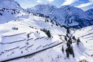 Austria, Vorarlberg, Allgaeuer Alps, winter at Hochtannberg Pass - STSF01857
