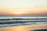 Spain, Tarifa, beach at sunset - KBF00534