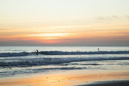 Spain, Tarifa, beach at sunset - KBF00534