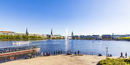 Germany, Hamburg, cityscape with Binnenalster - WD05135