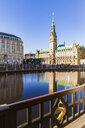 Germany, Hamburg, view from Alsterarkaden to city hall - WDF05153