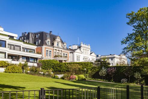 Germany, Hamburg, Eimsbuettel, villas at the Alster Lake - WDF05159
