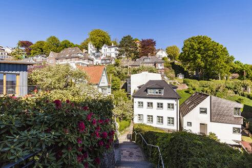 Germany, Hamburg, Blankenese, residential houses - WDF05171