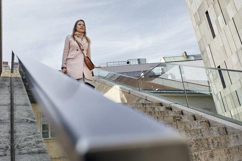 Austria, Vienna, Woman, Museums Quartier, Commuting - ZEDF01935