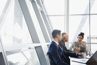 Business people talking in conference room meeting - HEROF26734