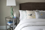 Bird pillows on elegant bed - HEROF26788
