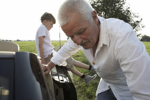Grandfather and grandson at cabrio - AMEF00014