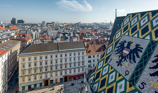 Austria, Vienna, Cityscape, Panorama, Stephansdom - ZEDF01957
