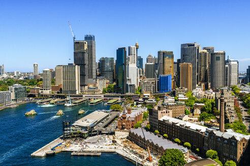 Australia, New South Wales, Sydney, Sydney skyline on a sunny day - KIJF02333