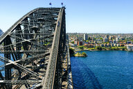 Australia, New South Wales, Sydney, landscape with the Sydney Bridge in the foreground - KIJF02336