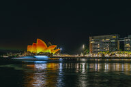 Australia, New South Wales, Sydney, Opera house in Sydney at night - KIJ02345