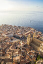 Sicily, Cefalu, View to old town of Cefalu, Cefalu Cathedral - MAMF00473