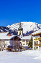 Austria, Tyrol, Tannheim Valley in winter - THAF02487