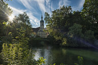 Germany, Baden-Wuerttemberg, Lake Constance, Constance, Inselgraben with Christ Church Saint Konrad - SH02107