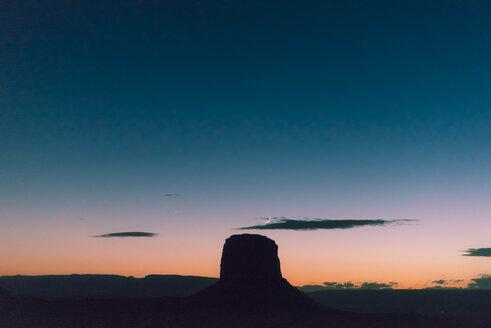 USA, Utah, Navajo Nation, Monument Valley at night - GEMF02881