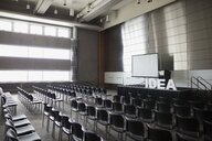 Empty auditorium with Idea letters on stage - HEROF27935