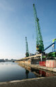 Harbour for transhipment of raw building materials, The Hague, Zuid-Holland, Netherlands - CUF49581