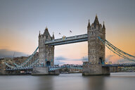 UK, London, Tower Bridge at sunset - MKFF00446