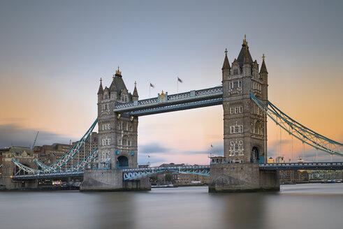 UK, London, Tower Bridge at sunset - MKFF00446