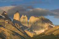 Chile, Patagonia, Torres del Paine National Park, mountainscape in early morning light - RUNF01493