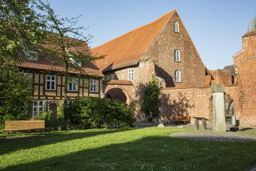 Germany, Mecklenburg-Western Pomerania, Stralsund, former Franciscan Monastery, half-timbered house - MAM00499