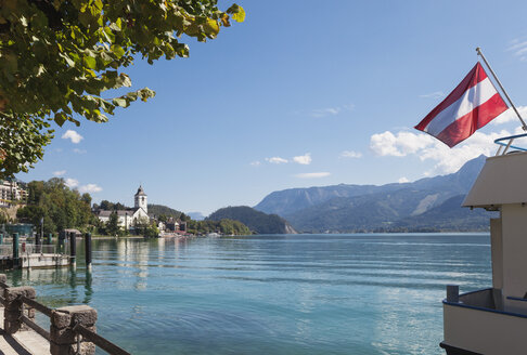 Austria, Alps, Salzburg, Salzkammergut, Salzburger Land, St. Wolfgang at Wolfgangsee - GWF05995