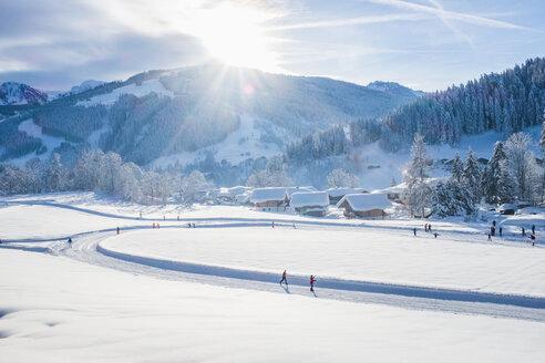 Austria, Salzburg State, Pongau, Wagrein in winter - HAMF00566