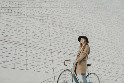 Young hipster woman on a bicycle - AHSF00052