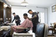 Barber shaving man - HEROF29731