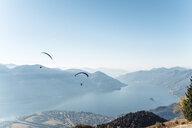 Switzerland, Ticino, Locarno, Ascona, Lake Maggiore, Paragliders - WFF00033
