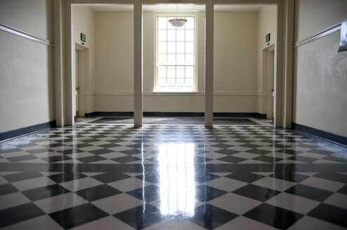 Shiny Checkered Floor of a School - MINF10915