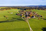 Germany, Bavaria, Upper Bavaria, Alpine foothills, Toelzer Land, Aerial view of Peretshofen, near Dietramszell - SIEF08441