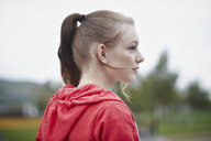Profile of teenage girl with pigtail - RORF01830
