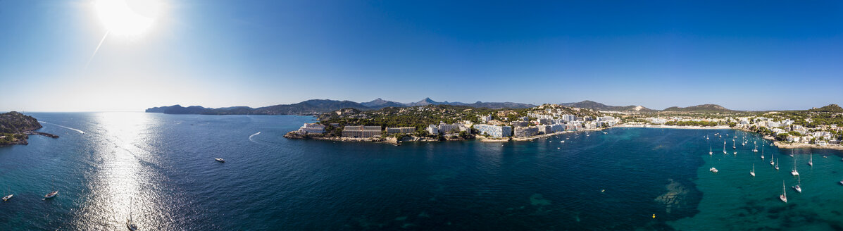 Mallorca, Santa Ponca, Aerial view of bay - AMF06847