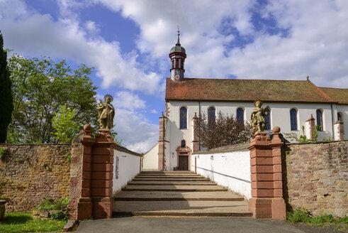 Germany, Bavaria, Franconia, Lower Franconia, Schoenau, Gemuenden am Main, Franciscan Monastery - LBF02467