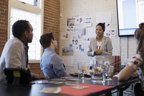 Designers meeting brainstorming in conference room - HEROF30517