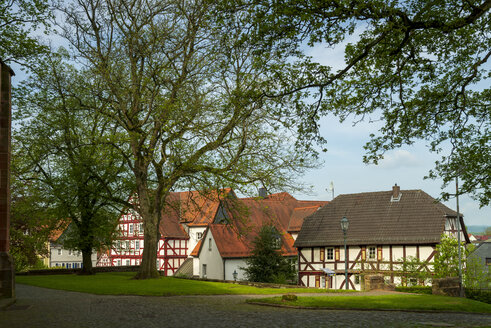 Germany, Wetter, half timbered houses - LBF02476