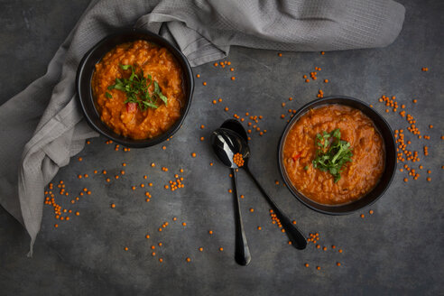 Red lentil soup with coriander - LVF07899