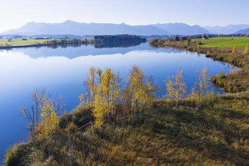 Germany, Upper Bavaria, Alpine foreland, 'Das Blaue Land', Riegsee, north bank near Murnau - SIEF08469
