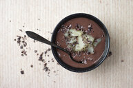 Chocolate pudding with pineapple chunks and cacao nibs - MYF02099