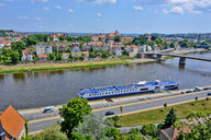 Germany, Meissen, townscape with River Elbe - RUNF01623
