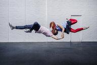 Modern aerial dancers performing - FSIF03813