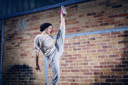 Agile female modern dancer performing - FSIF03822