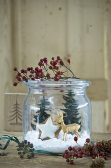 Preserving jar with Christmas decoration - ASF06360