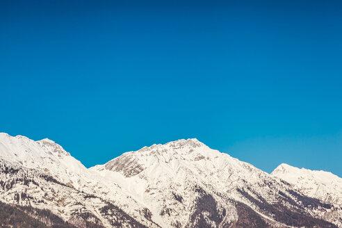 Austria, Tyrol, Snow-capped Alps near Innsbruck - FLMF00174