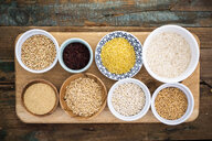 Buckwheat, red rice, bulgur, rice, amaranth, oats, barley and spelt - GIOF05947
