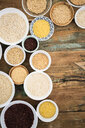 Buckwheat, red rice, bulgur, rice, amaranth, oats, barley and spelt and quinoa - GIOF05950