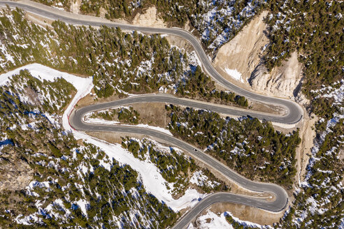 Switzerland, Val Muestair, Fuorn Pass, aerial view - STSF01883