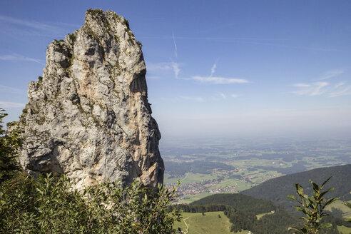 Blick auf das Chiemgau, Kampenwand, Chiemgauer Alpen, Bayern, Deutschland - MAMF00507