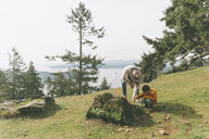 Mother and son playing in nature - CMSF00004